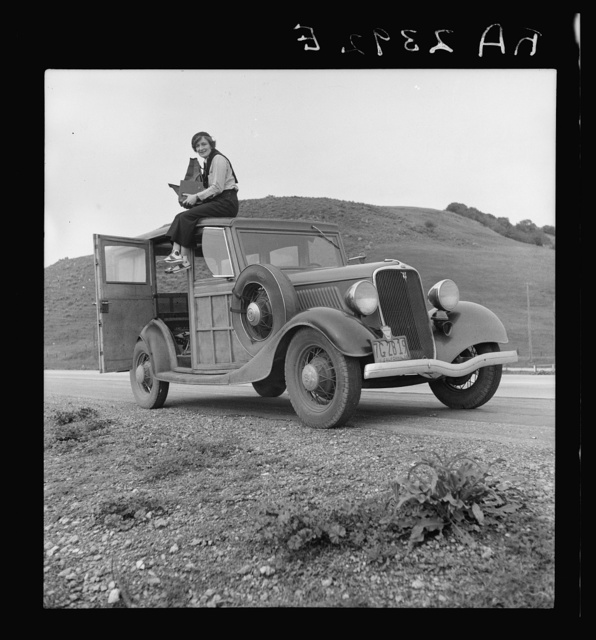 Dorothea Lange, Resettlement Administration photographer, in California