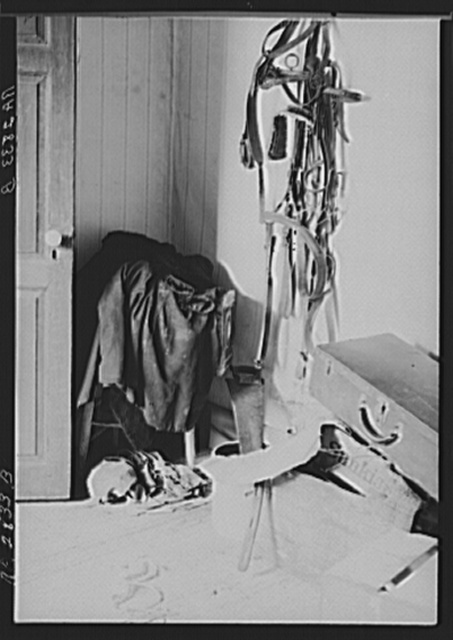 Downstairs clothes closet on farm optioned for wildlife area. Albany County, New York
