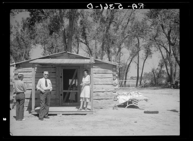 Dr. Gray at rehabilitation client's home. Powder River County, Montana
