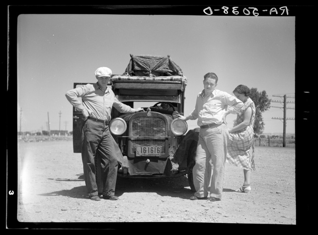 Drought refugees from Glendive, Montana, leaving for Washington