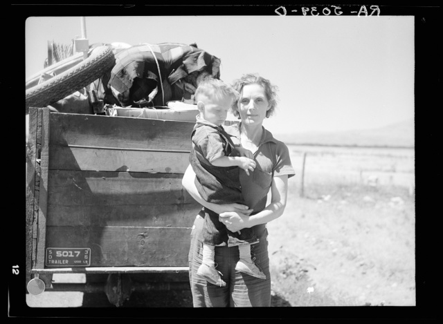 Drought refugees from South Dakota. Montana