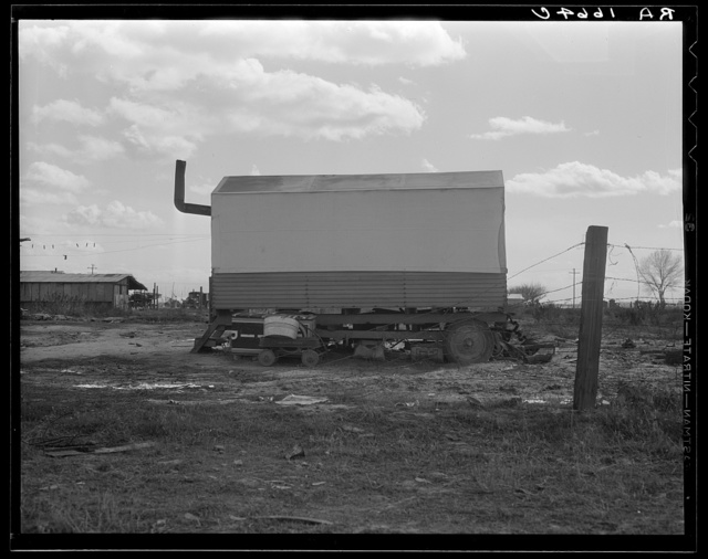 Dust bowl refugees living in camps in California