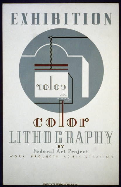 Exhibition color lithography by Federal Art Project Work Projects Administration