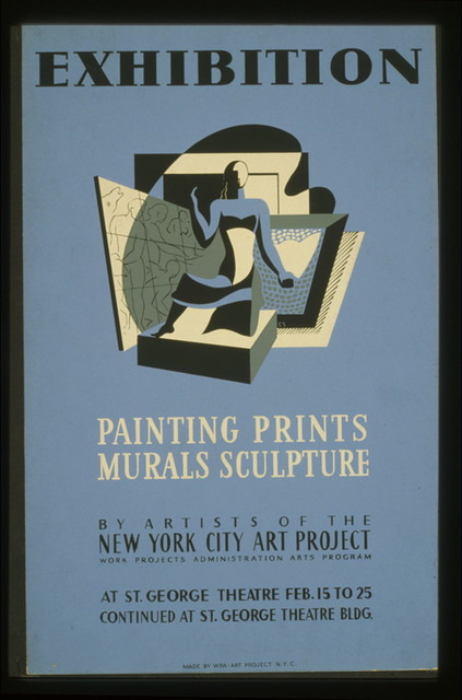 Exhibition Painting, prints, murals, sculpture by artists of the New York City Art Project / / C.S.
