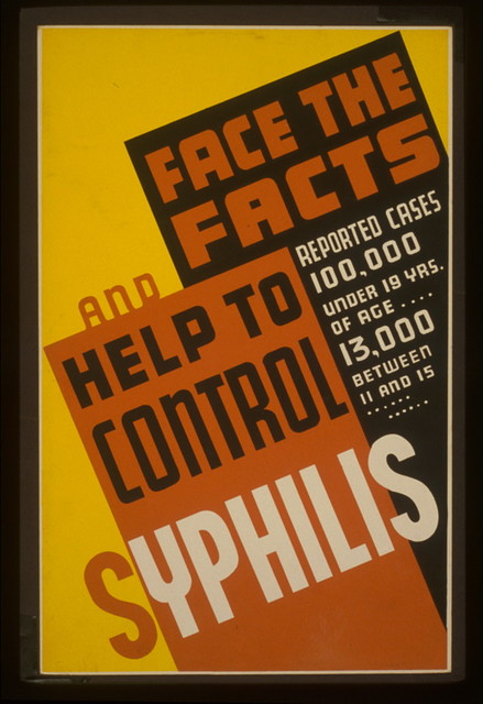 Face the facts and help to control syphilis Reported cases 100,000 under 19 yrs. of age ... 13,000 between 11 and 15.