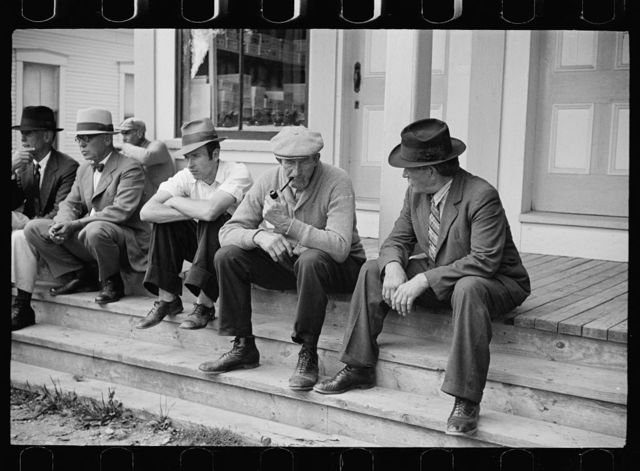 Fair at Albany, Vermont. Spectators at the fair