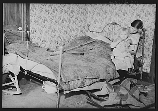 Family of Resettlement Administration workers whose land, near Rensselaer, New York, has been optioned for wildlife area. The mother is pregnant and suffering from tuberculosis. Albany County, New York