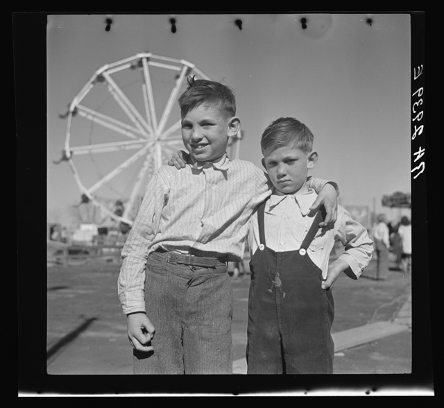 Farm boys of the Pecos Valley, New Mexico, at carnival in Roswell