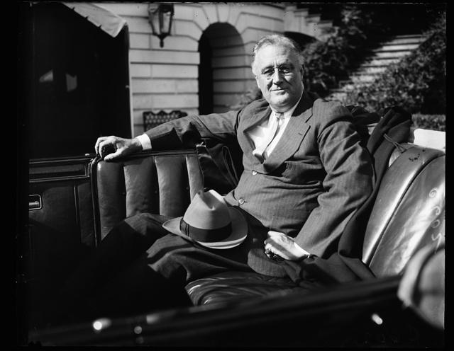 FDR [Franklin Delano Roosevelt] IN CAR