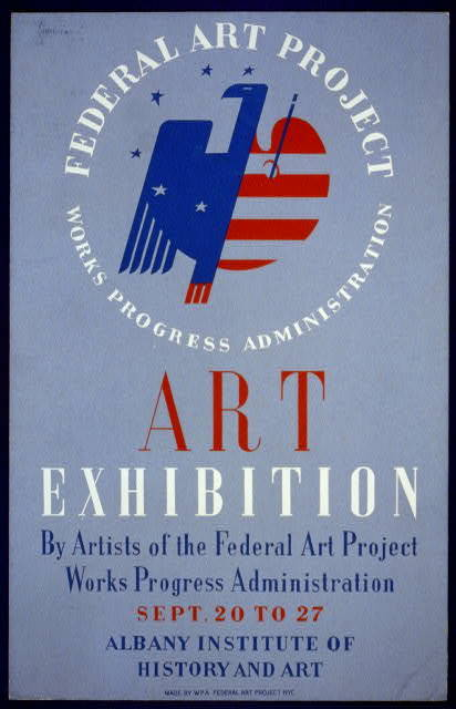 Federal Art Project, Works Progress Administration art exhibition by artists of the Federal Art Project ... [at the] Albany Institute of History and Art