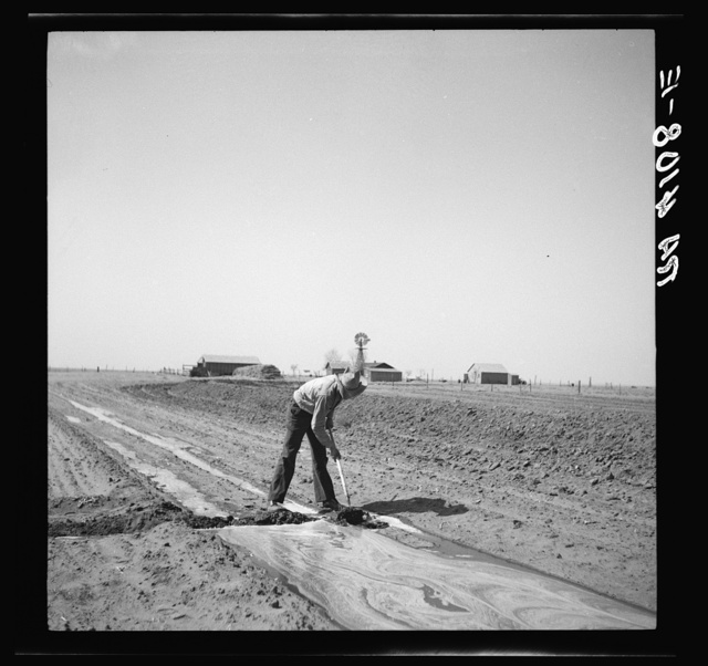 Fighting the drought and dust with irrigation. Cimarron County, Oklahoma