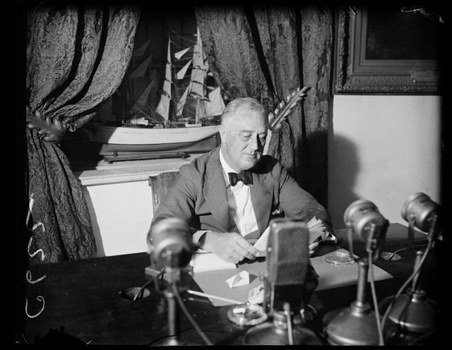 FIRESIDE TALK ON RADIO, SEPTEMBER 6, 1936