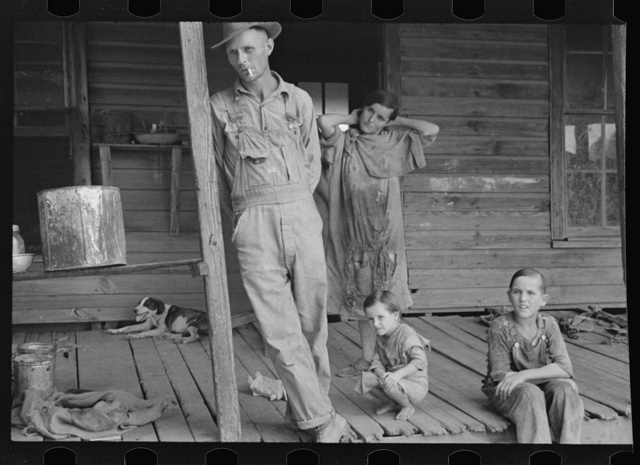 Floyd Burroughs and Tengle children, Hale County, Alabama