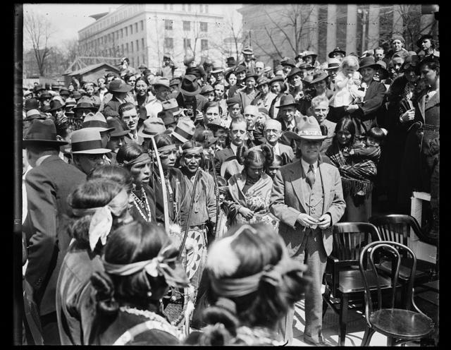 [Gathering with Native Americans, Washington, D.C.]