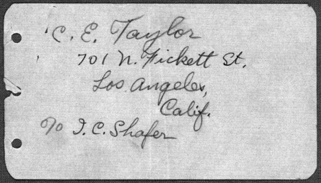 General Correspondence:  Taylor, Charles E., 1936-1941, undated