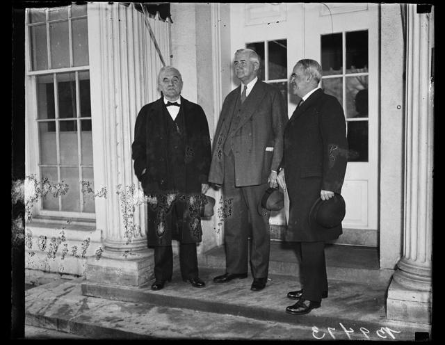 [George Norris, left; Jesse H. Jones, center. White House, Washington, D.C.]