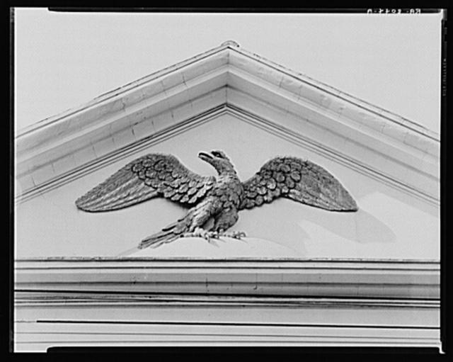 Gilded pediment eagle. Charleston, South Carolina