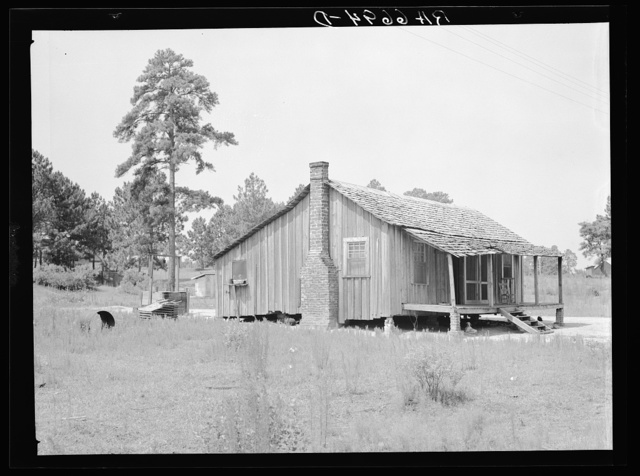 Grady Watson was moved from this shack at Irwinville, Georgia, to a new Federal Emergency Relief Administration (FERA) house and farm unit in Irwinville Farms rural resettlement project
