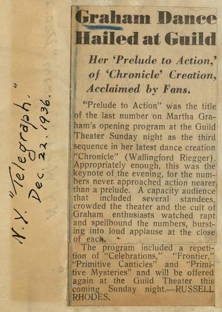 Graham Dance Hailed at Guild