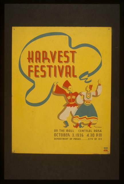 Harvest festival on the mall, Central Park / M. Weitzman.