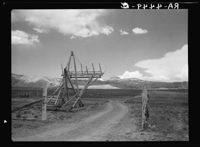 Hay stacker. Dubois, Wyoming