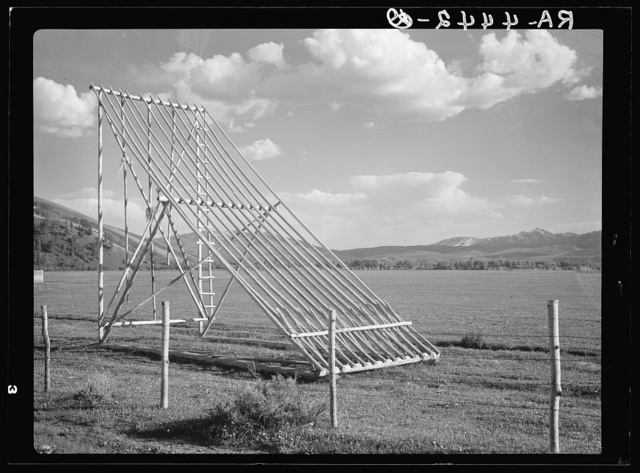Hay stacker. Teton County, Wyoming