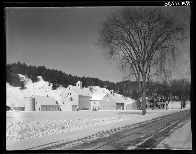 House and barns of large-scale dairy farm. Windsor County, New Hampshire [i.e. Vermont]