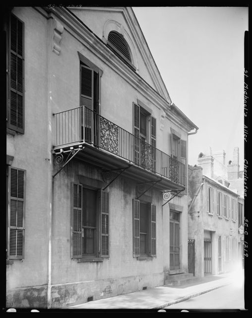 House, St. Michael's Alley, Charleston, Charleston County, South Carolina