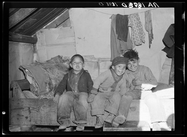 Indian children. Mescalero Reservation, New Mexico