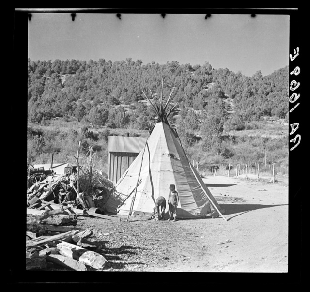 Indian tepee. Mescalero Reservation, New Mexico