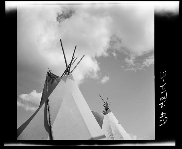 Indian tepees. Molalla Buckeroo. Molalla, Oregon