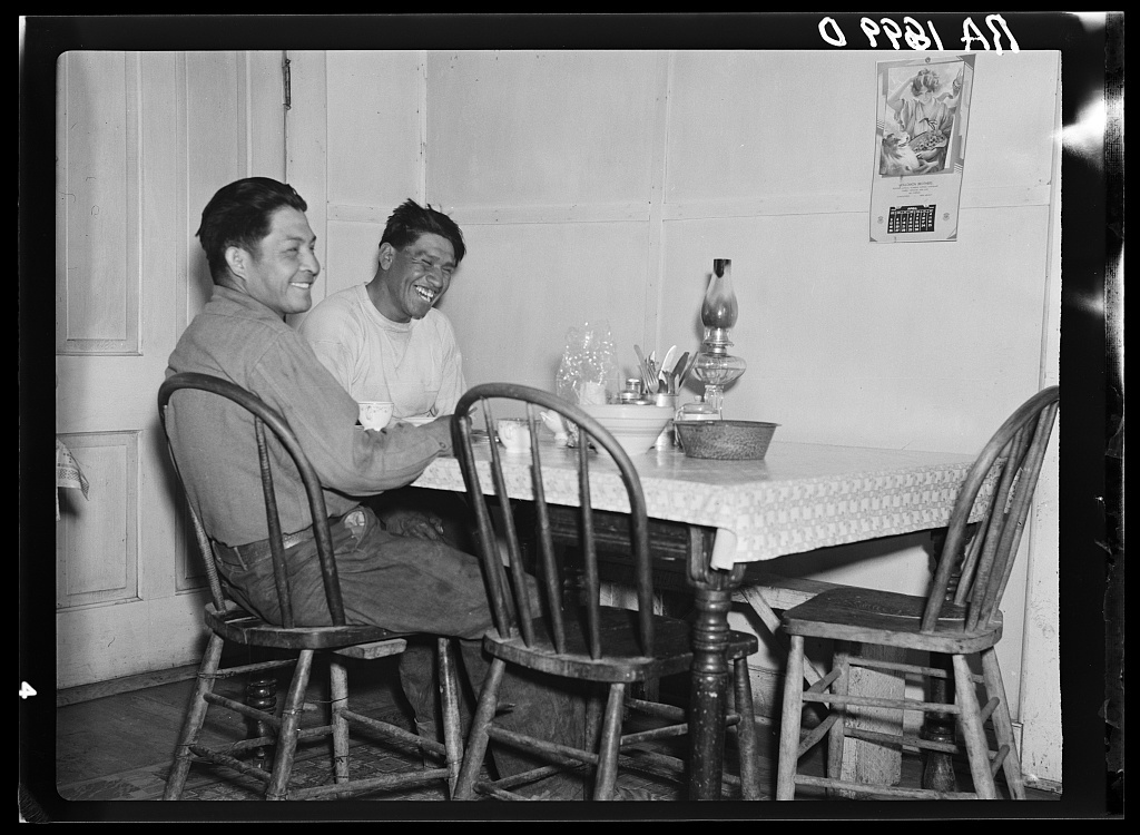 Indians of the Geroninio tribe who have the highest standard of living on the Mescalero Reservation, New Mexico