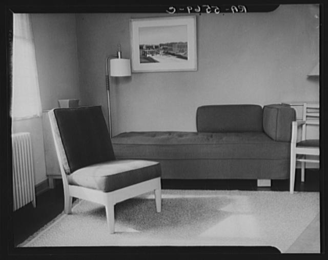 Interior of Greenbelt house. Maryland