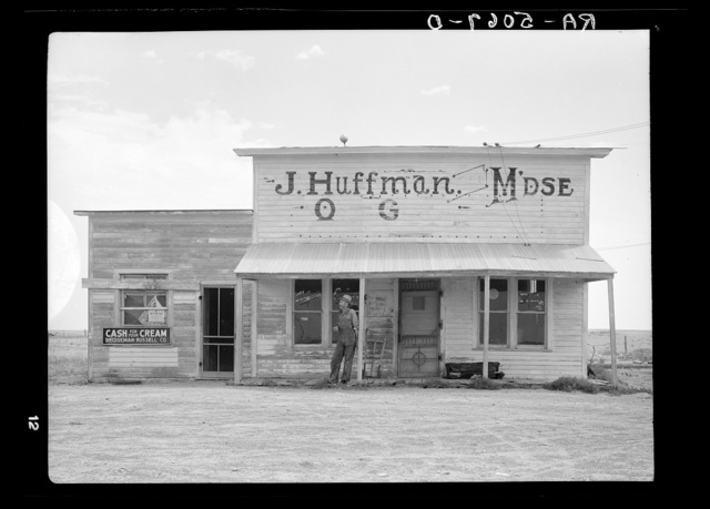 J. Huffman of Grassy Butte, North Dakota, has been forced to close his general store on account of the drought