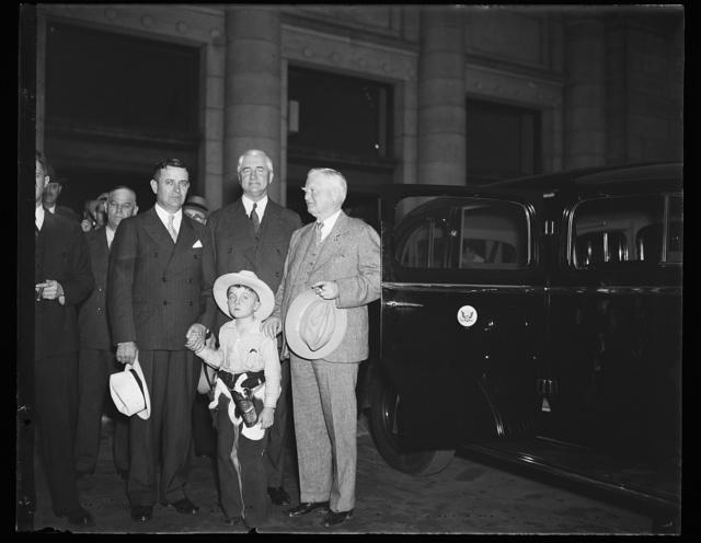 [Jesse H. Jones, center, John Nance Garner, right]
