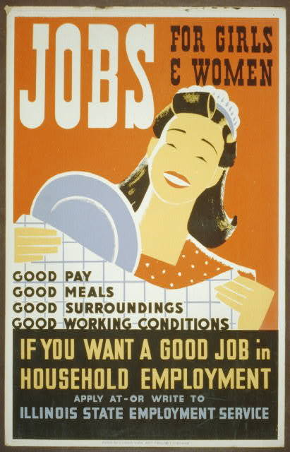 Jobs for girls poster 1936.