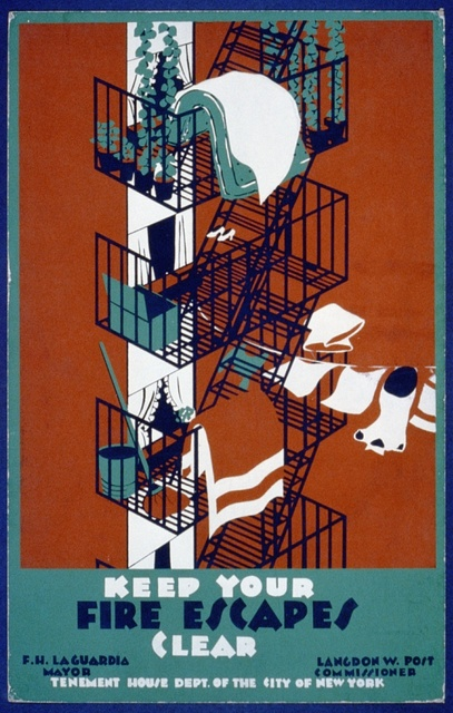 Keep your fire escapes clear
