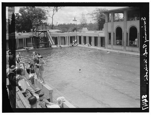 Kenya Colony. Nairobi. The Salisbury Hotel. Swimming pool