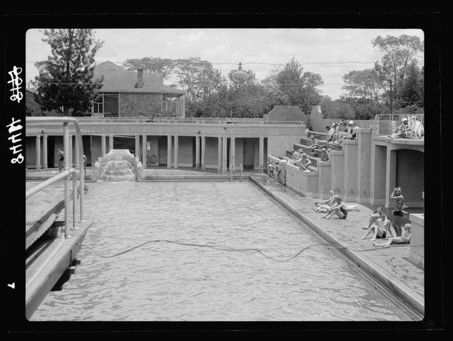Kenya Colony. Nairobi. The Salisbury Hotel swimming pool