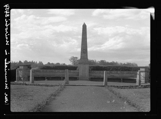 Kenya Colony. Nairobi. War memorial