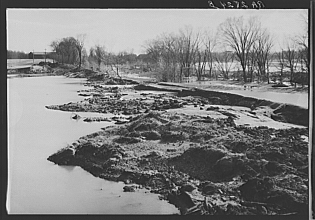 Land ruined by the high waters of the Connecticut River. Near Hatfield, Massachusetts