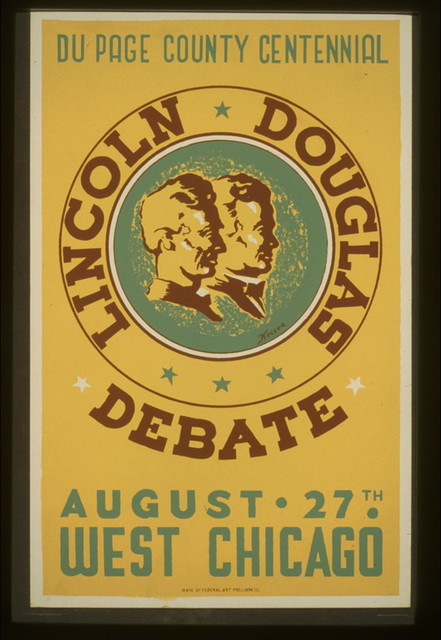 Lincoln Douglas debate Du Page County Centennial, August 27th, West Chicago / / Kreger.