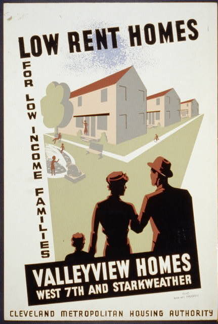 Low rent homes for low income families Valleyview homes, West 7th and Starkweather.