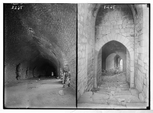 Margab Castle. The undercroft; entrance to castle. Interior view (looking toward entrance)
