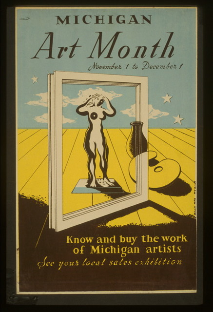 Michigan art month Know and buy the work of Michigan artists : See your local sales exhibition / / Merlin.