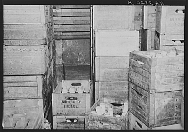 Milk storage room at the United Cooperative Society at Fitchburg, Massachusetts