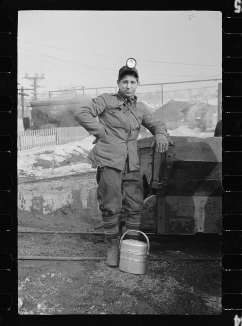 Miner at American Radiator Mine, Mount Pleasant, Westmoreland County, Pennsylvania