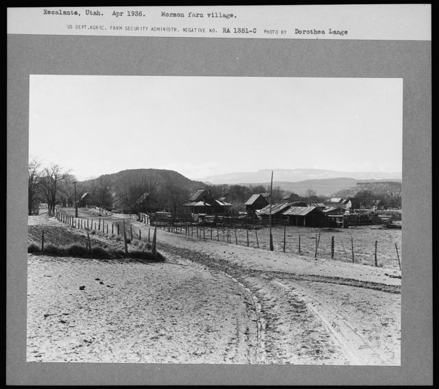 Mormon farm village. Escalante, Utah