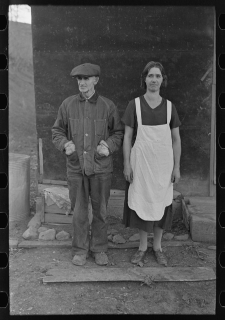 Mr. and Mrs. Charles Banta, farmers near Anthon, Iowa. They have groceries to last for only ten days unless they sell some of their livestock which is most essential for farming next spring. They hardly have a ton of wheat straw, and all the WPA money has been spent for livestock feed