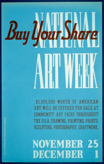 National Art Week Buy your share / / designed & made by Iowa Art Program, W.P.A.